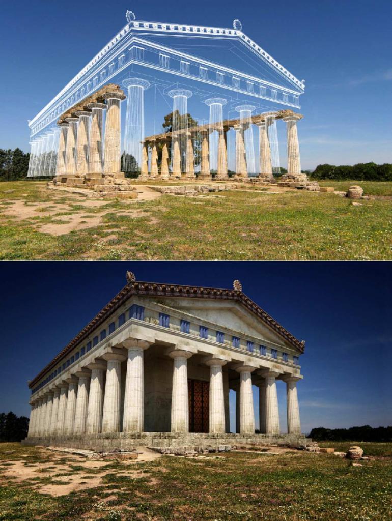 Ricostruzione 3D delle Tavole Palatine di Metaponto